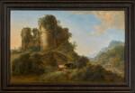 GILLIS NEYTS   A LANDSCAPE WITH THE RUINS OF CÉSAR CASTLE AT VAULX-LEZ-TOURNAI
