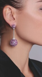PAIR OF PINK SAPPHIRE EARRINGS, MICHELE DELLA VALLE