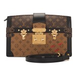Louis Vuitton Trunk Clutch of Reverse Monogram Canvas with Polished Brass Hardware