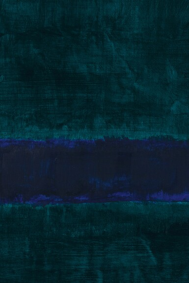 View 3. Thumbnail of Lot 110. MARK ROTHKO | GREEN, BLUE, GREEN .