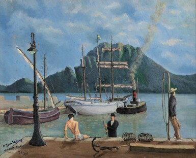 View 1. Thumbnail of Lot 63. La baignade sur le port.