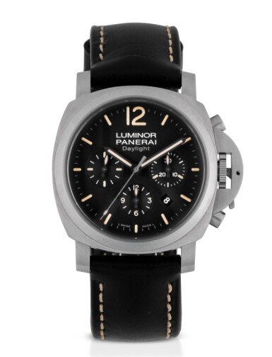 PANERAI | LUMINOR DAYLIGHT, REF PAM00356 LIMITED EDITION STAINLESS STEEL CHRONOGRAPH WRISTWATCH WITH DATE CIRCA 2011