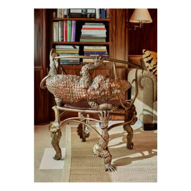 "View 3. Thumbnail of Lot 28. ""Crocodile"" Armchair."