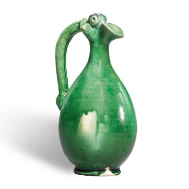 View 1. Thumbnail of Lot 237. A RARE GREEN-GLAZED EWER, TANG DYNASTY | 唐 白釉綠彩鳳首壺.