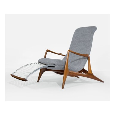 VLADIMIR KAGAN | SCULPTED RECLINING CHAIR, MODEL NO. VK100