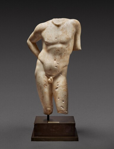 View 1. Thumbnail of Lot 27. A Roman Marble Torso of Narcissus, circa 1st Century A.D..
