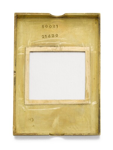 View 4. Thumbnail of Lot 77. CARTIER, FRANCE   [卡地亞,法國]  | A GOLD AND ENAMEL PURSE WATCH WITH SPRUNG SHUTTERS  CIRCA 1930, ÉCLIPSE   [「ÉCLIPSE」 黃金畫琺瑯方形懷錶備彈簧開關,年份約1930].