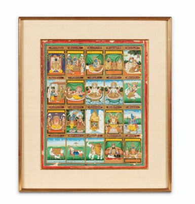 View 8. Thumbnail of Lot 35. RAJASTHAN, 19TH CENTURY | SEVEN INDIAN MINIATURES.