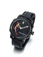 ROMAIN JEROME   EYJAFJALLAJÖKULL A LIMITED EDITION PVD COATED STAINLESS STEEL AUTOMATIC WRISTWATCH CIRCA 2010