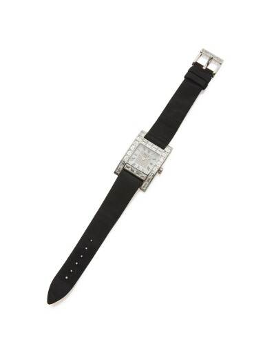 WHITE GOLD, DIAMOND, AND MOTHER-OF-PEARL WRISTWATCH, CHOPARD