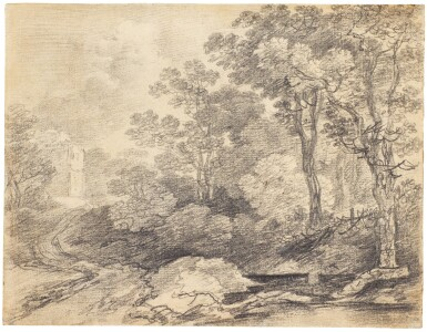 View 1. Thumbnail of Lot 16. THOMAS GAINSBOROUGH, R.A.  |  A WOODED LANDSCAPE.