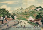 ATTRIBUTED TO KAWAHARA KEIGA (1786–1860) STUDIO, A GROUP OF ELEVEN VIEWS STUDIO, EDO PERIOD, EARLY 19TH CENTURY