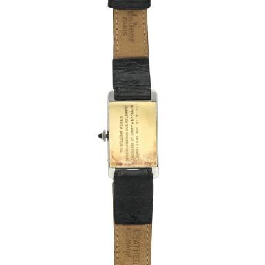 View 5. Thumbnail of Lot 222. Tank Cintrée A rare platinum and yellow gold rectangular wristwatch, Circa 1925 .