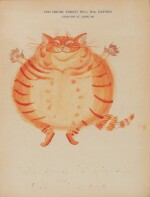 HALE | Two illustrations of Orlando the Marmalade Cat, [c. 1971]
