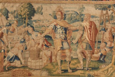 View 2. Thumbnail of Lot 34. A Flemish Classical Tapestry, Oudenaarde, second half 16th century.