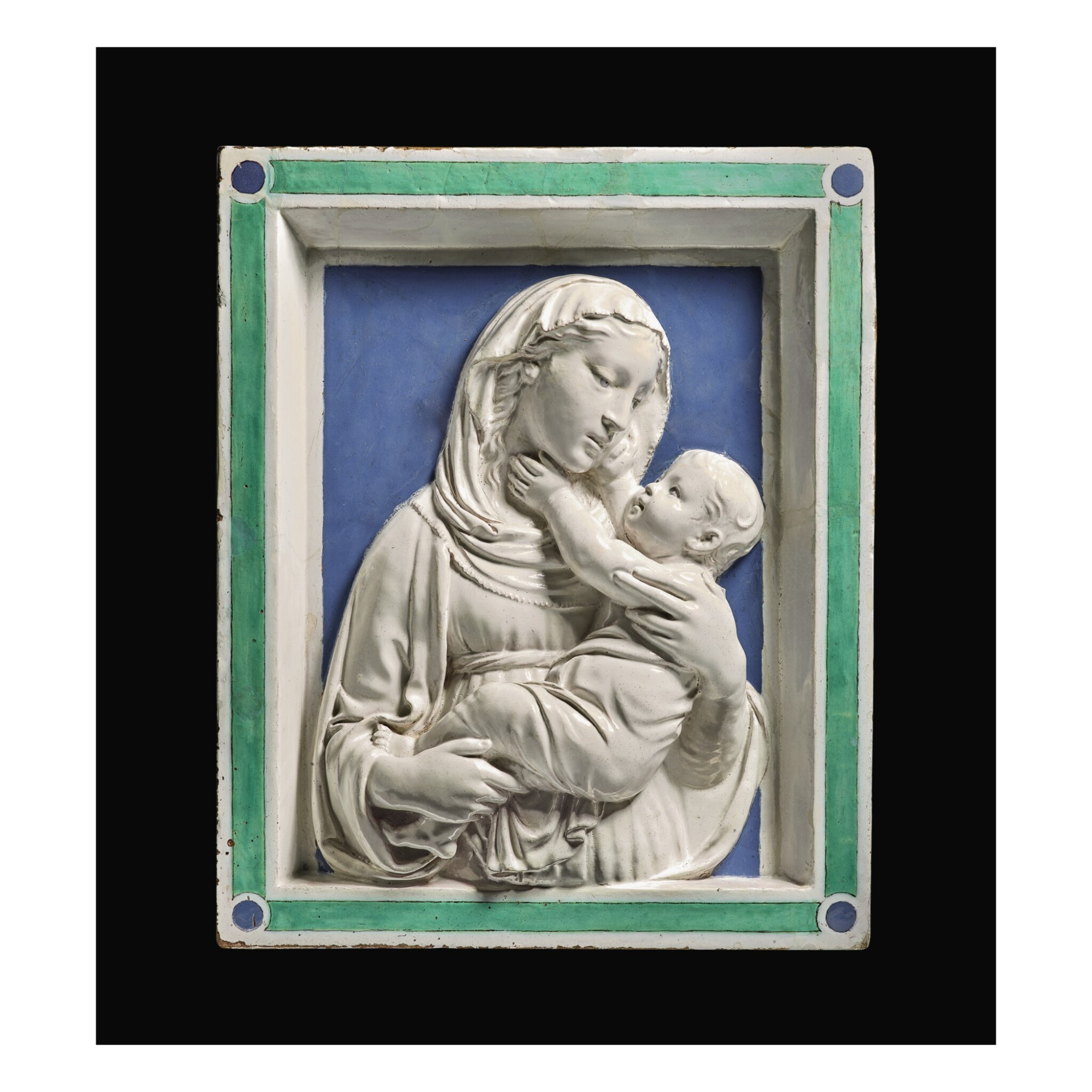 View 1 of Lot 2. Relief of the Madonna and child, c1450 .