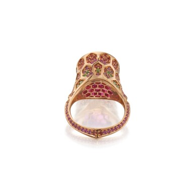 View 3. Thumbnail of Lot 146. Nigel O 'Reilly | Garnet, Fancy Colored Sapphire and Colored Diamond 'Plato's Garnet' Ring.