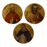 Sold Without Reserve | GIUSTO DE' MENABUOI | TWO EVANGELISTS; SAINT GREGORY THE GREAT; SAINT JEROME; SAINT MARGARET OF HUNGARY; SAINT DOMINIC
