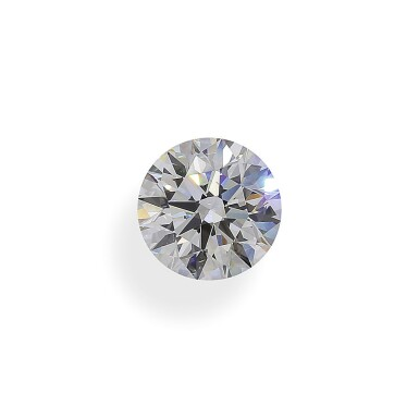 A 3.02 Carat Round Diamond, F Color, SI1 Clarity