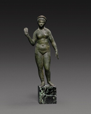 View 1. Thumbnail of Lot 49. A Roman Bronze Figure of Aphrodite, circa 2nd Century A.D..