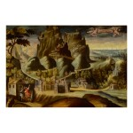 CIRCLE OF PAUL BRIL | LANDSCAPE WITH THE LEGEND OF IL GUERRIN MESCHINO