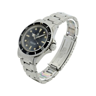 View 2. Thumbnail of Lot 105. ROLEX | REFERENCE 5513 SUBMARINER A STAINLESS STEEL AUTOMATIC WRISTWATCH WITH BRACELET, CIRCA 1970.