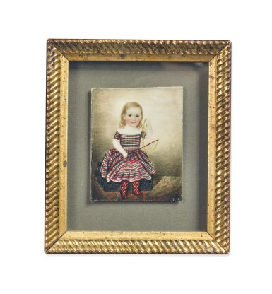 ATTRIBUTED TO MRS. MOSES B. RUSSELL (CLARISSA PETERS) | MINIATURE PORTRAIT OF GEORGE RUSSELL