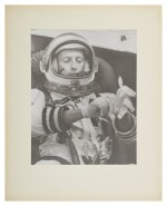 "[GEMINI 5] VINTAGE SILVER GELATIN PRINT OF CHARLES ""PETE"" CONRAD, SUITING UP, CA AUGUST 1965."