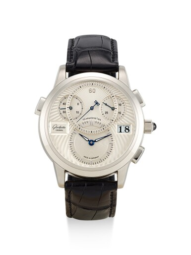 GLASHÜTTE | PANOMATIC CHRONO, REFERENCE 9501030304, A LIMTIED EDITION PLATINUM FLYBACK CHRONOGRAPH WRISTWATCH WITH DATE, CIRCA 2005
