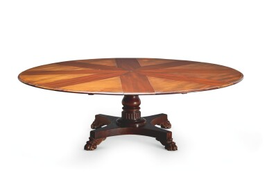 View 8. Thumbnail of Lot 24. AN EARLY VICTORIAN MAHOGANY EXPANDING DINING TABLE BY JOHNSTONE & JEANES, MID-19TH CENTURY.