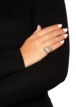 ICY JADEITE AND DIAMOND RING