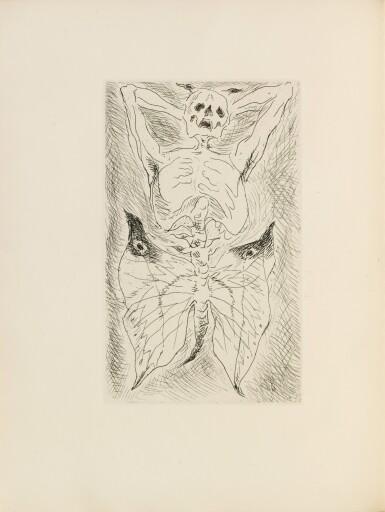 View 1. Thumbnail of Lot 167. Les Sans cou. 1934. 1/130 ex. Eau-forte originale de Masson. Envoi a.s. de Desnos à Skira.