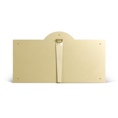View 3. Thumbnail of Lot 730. LARGE BRASS-FINISH DISPLAY SIGN.