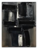 PIERRE SOULAGES | PEINTURE 65 X 50 CM, 1955