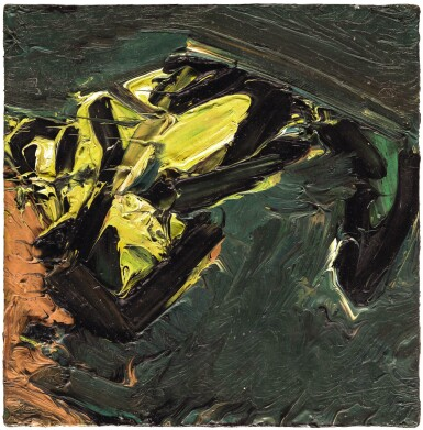 View 1. Thumbnail of Lot 45. FRANK AUERBACH  |  RECLINING HEAD OF J.Y.M..