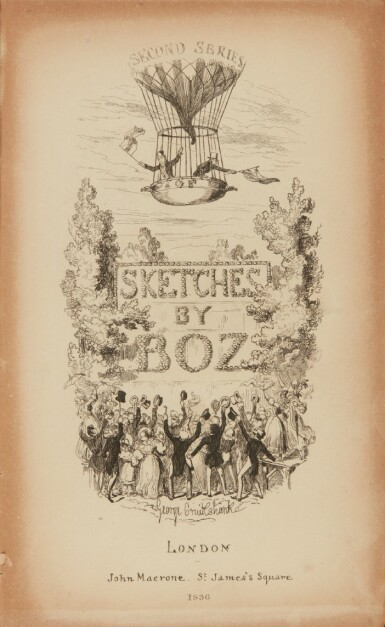 Dickens, Sketches by Boz, First and Second Series, 1836-1837, first edition