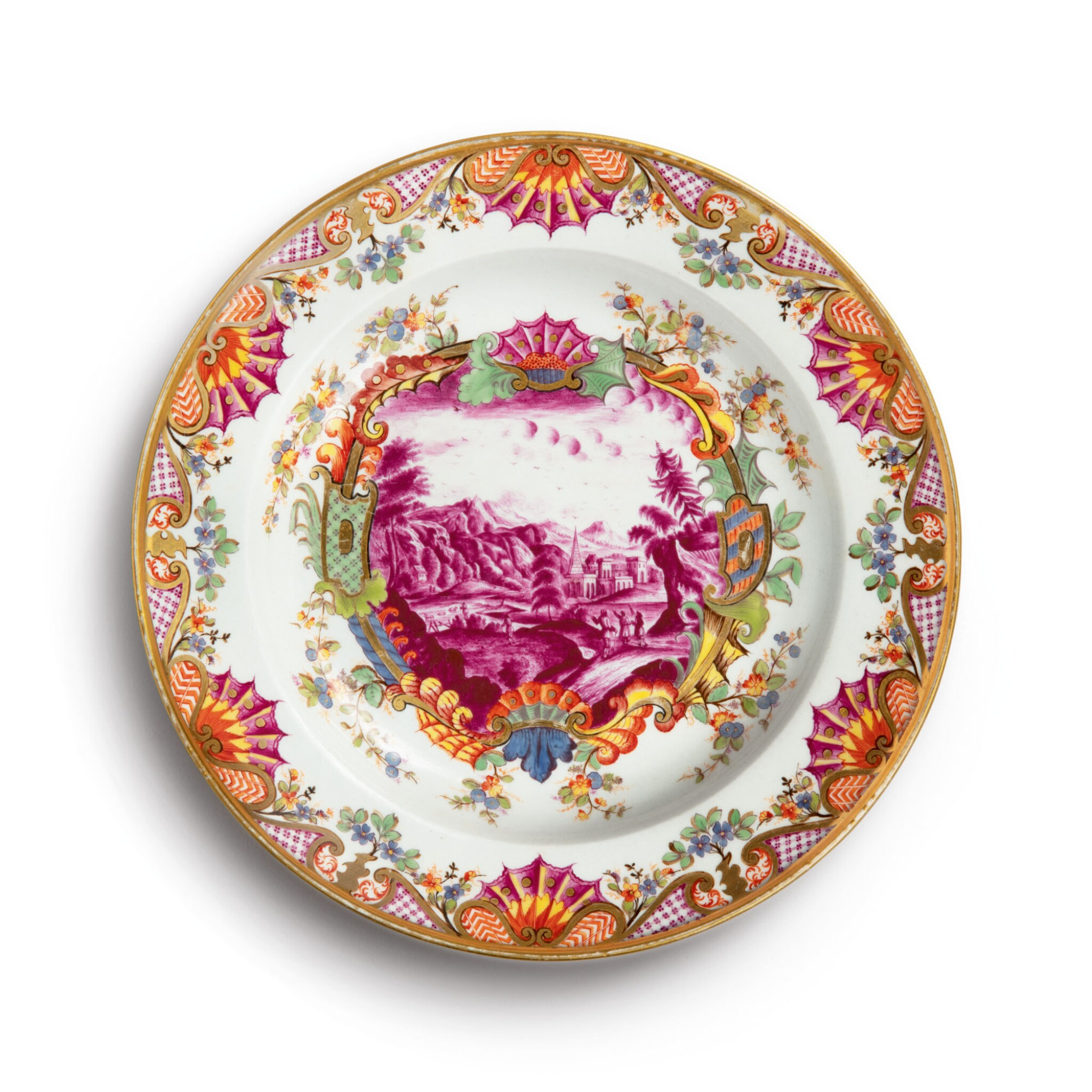 View full screen - View 1 of Lot 475. A HAUSMALER-STYLE PLATE 19TH CENTURY OR LATER.