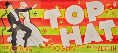 TOP HAT (1935) POSTER, SWEDISH