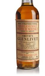 SMITH'S GLENLIVET BOTTLED FOR  PETER DOMINIC 12 YEAR OLD 40.0 ABV 1965