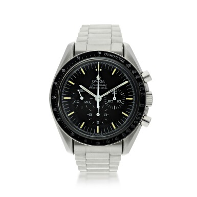 View 1. Thumbnail of Lot 11. OMEGA | SPEEDMASTER 20TH ANNIVERSARY OF APOLLO XI  A LIMITED EDITION STAINLESS STEEL CHRONOGRAPH WRISTWATCH WITH BRACELET, MADE FOR THE USA MARKET, CIRCA 1989.