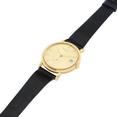 View 6. Thumbnail of Lot 25. REFERENCE 3445 A YELLOW GOLD AUTOMATIC WRISTWATCH WITH DATE, MADE IN 1972.