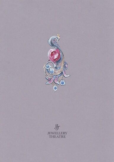 View 5. Thumbnail of Lot 8014. Rubellite, Sapphire and Diamond Brooch | 碧璽 配 藍寶石 及鑽石 胸針.