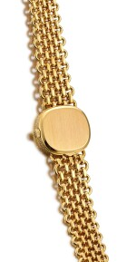 PATEK PHILIPPE | ELLIPSE, REFERENCE 4133/1, A YELLOW GOLD BRACELET WATCH AND MATCHING RING, CIRCA 1975