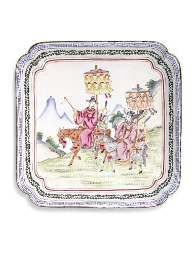 A FAMILLE ROSE CANTON ENAMEL DISH | QING DYNASTY, CIRCA 1800