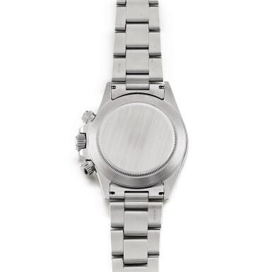 View 3. Thumbnail of Lot 2148. Rolex | Cosmograph Daytona, Reference 16520, A stainless steel chronograph wristwatch with bracelet, Circa 1996 | 勞力士 | Cosmograph Daytona 型號16520    精鋼計時鏈帶腕錶,約1996年製.