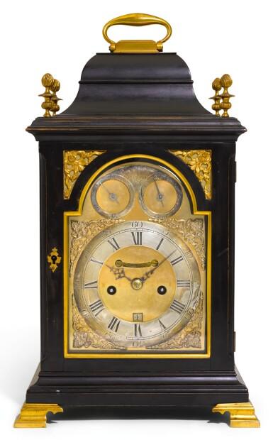 A GEORGE III EBONISED TABLE CLOCK, WILLIAM FREDERICK STRIGEL, LONDON, CIRCA 1770
