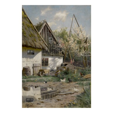 PEDER MØNSTED | FARMHOUSE WITH CHICKENS