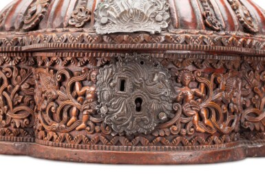 View 2. Thumbnail of Lot 35. South America, Alto Peru (now Bolivia), 18th century   Shell-form Box, Coquera.