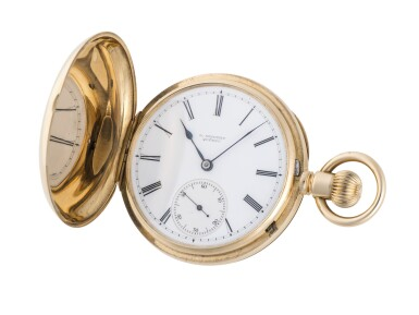 A. LANGE & SÖHNE | RETAILED BY G. SEIFERT, QUÉBEC: YELLOW GOLD HUNTING-CASED WATCH CIRCA 1910