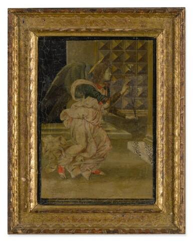 View 2. Thumbnail of Lot 502. FLORENTINE SCHOOL, CIRCA 1480/90 | THE ANGEL GABRIEL.